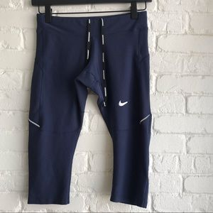 Nike running navy blue women's running legging S